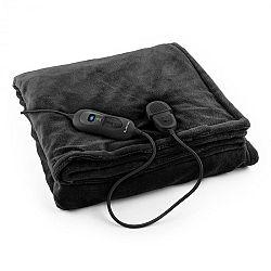 Klarstein Columbo XL výhřevná deka 120 W, pratelná, 180x130 cm, mikroplyš, černá