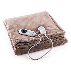 Klarstein Dr. Watson XXL výhřevná deka 120 W, pratelná, 200x180 cm, mikroplyš, béžová barva