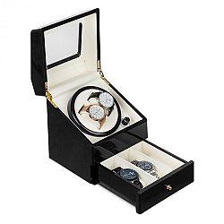 Klarstein Geneva, pohyblivý stojan na hodinky, 2 hodinek, 4 režimy, zásuvka, černý