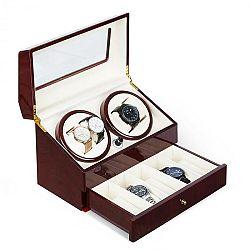 Klarstein Geneva, pohyblivý stojan na hodinky, 4 hodinek, 4 režimy, zásuvka, palisandrový vzhled