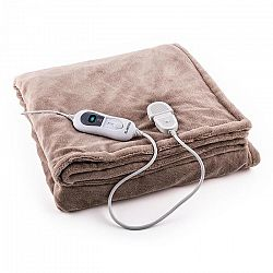 Klarstein HZD2-Dr.Watson, 120 W, 180 x 130 cm, vyhřívací deka, prací, béžová