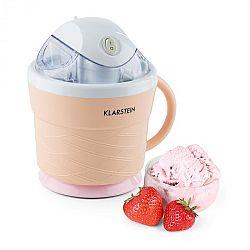 Klarstein IceIceBaby, krémově oranžová, zařízení na výrobu zmrzliny, 0,75 l, držadlo, 7,3–9,5 W