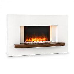 Klarstein Montreux, elektrický krb, 1000/2000 W, InstaFire, dálkový ovladač, bílý