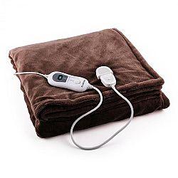 Klarstein Sherlock M výhřevná deka 120 W, pratelná, 150x100 cm, mikroplyš, hnědá barva