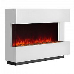 Klarstein Studio 1, bílý elektrický krb, LED simulace plamene, 750/1500 W, 40 m³