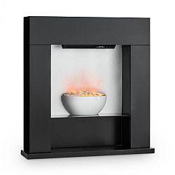 Klarstein Studio-8, elektrický krb, 2000 W, iluze plamenů, 40m², MDF, černá barva