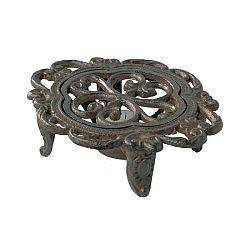 Kovová podložka pod hrnec/konvici s prostorem na svíčku Antic Line Trivet