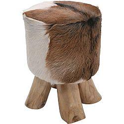 Kožená stolička Kare Design Flint Stone, ⌀ 35 cm