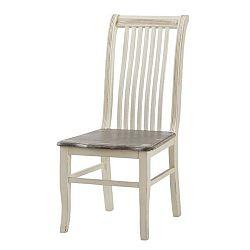 Krémová jídelní židle z topolového dřeva Livin Hill Pesaro