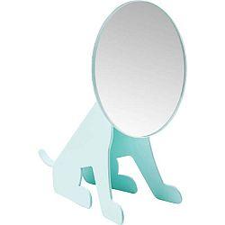 Mentolově modré stolní zrcadlo Kare Design Dog