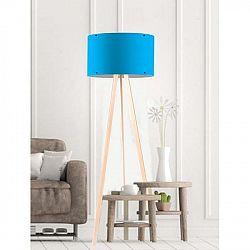 Modrá stojací lampa Simple