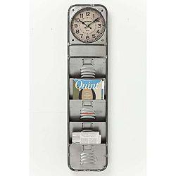 Nástěnné hodiny s přihrádkami na časopisy Kare Design Thinktank