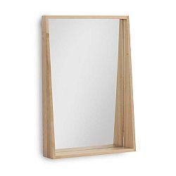 Nástěnné zrcadlo z březového dřeva Geese Pure, 65 x 45 cm