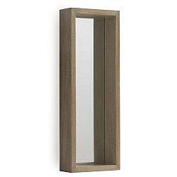 Nástěnné zrcadlo ze dřeva paulovnie Geese Pure, 62x22cm