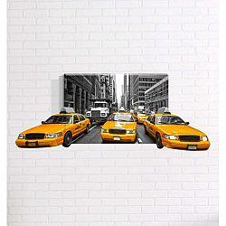 Nástěnný 3D obraz Mosticx Taxi, 40 x 60 cm