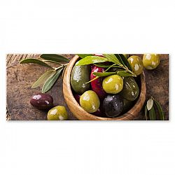 Obraz Styler Glasspik Kitchen Olives I, 30 x 80 cm