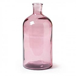 Růžová skleněná váza La Forma Semplice, výška28cm