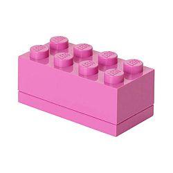 Růžový úložný box LEGO® Mini Box