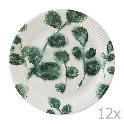 Sada 12 papírových talířů House Doctor Dahra Mia