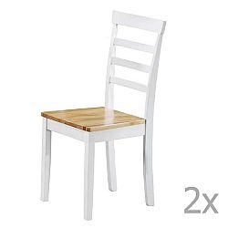 Sada 2 bílých jídelních židlí Støraa Molly