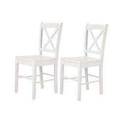 Sada 2 bílých židlí Støraa Trento Cross