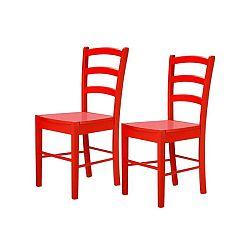 Sada 2 červených židlí Støraa Trento Quer