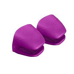 Sada 2 fialových silikonových chňapek Versa Mittens