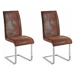 Sada 2 hnědých židlí Støraa Manto