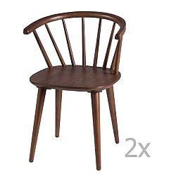 Sada 2 jídelních židlí v dekoru ořechového dřeva sømcasa Anya
