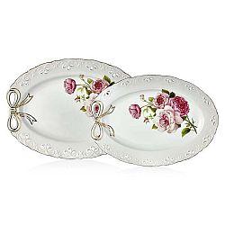 Sada 2 porcelánových servírovacích talířů Balada