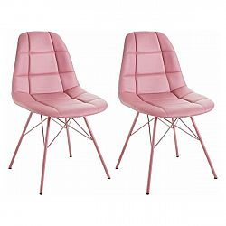 Sada 2 růžových židlí Støraa Sting