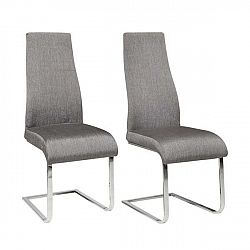 Sada 2 šedých jídelních židlí Støraa Teresa