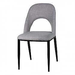 Sada 2 světle šedých jídelních židlí sømcasa Anika