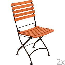 Sada 2 zahradních skládacích židlí z eukalyptového dřeva ADDU Vienna