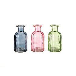 Sada 3 skleněných dekorativních lahví Unimasa Luciana