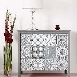 Sada 30 samolepek na nábytek Ambiance Tiles Stickers For Furniture Cineloto, 15 x 15 cm