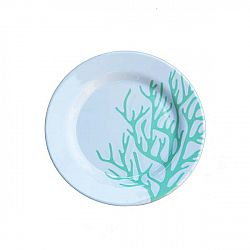 Sada 6 melaminových talířků Sunvibes Corail Bleu, Ø 20 cm