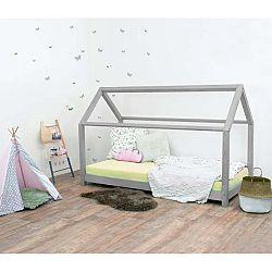 Šedá dětská postel bez bočnic ze smrkového dřeva Benlemi Tery, 90 x 190 cm