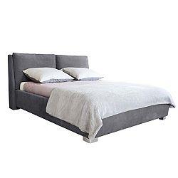 Šedá dvoulůžková postel Mazzini Beds Vicky, 140x200cm
