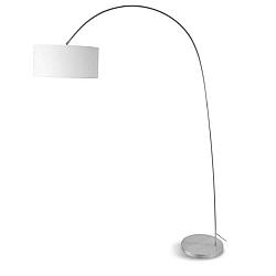 Šedá volně stojící lampa s bílým stínidlem Citylights Bolivia