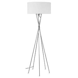 Šedá volně stojící lampa s bílým stínidlem Citylights Lima