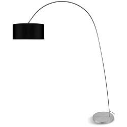 Šedá volně stojící lampa s černým stínidlem Citylights Bolivia