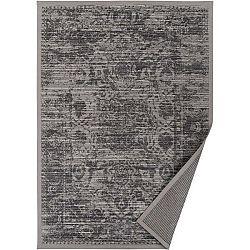 Šedobéžový vzorovaný oboustranný koberec Narma Palmse, 140 x 200cm