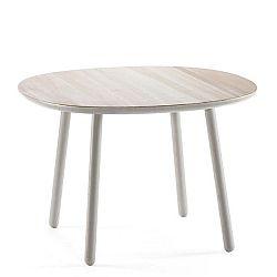 Šedý jídelní stůl z masivu EMKO Naïve, 110 cm