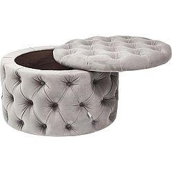 Šedý taburet Kare Design Desire
