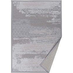 Šedý vzorovaný oboustranný koberec Narma Nehatu, 140 x 200cm