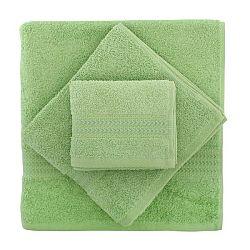 Set 2 zelených bavlněných ručníků a osušky ze 100% bavlny Rainbow