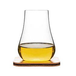 Sklenice s podtáckem/stojánkem na whiskey Sagaform Whiskey Tasting Set, 150 ml