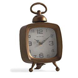 Stolní hodiny v měděné barvě Geese Old