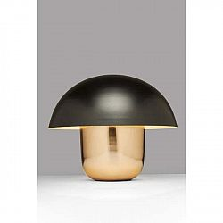Stolní lampa ve zlaté barvě s černým stínítkem Kare Design Mushroom